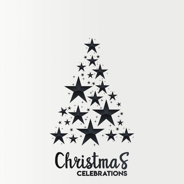 Weihnachtskartendesign mit elegantem design und hellem hintergrund Kostenlosen Vektoren