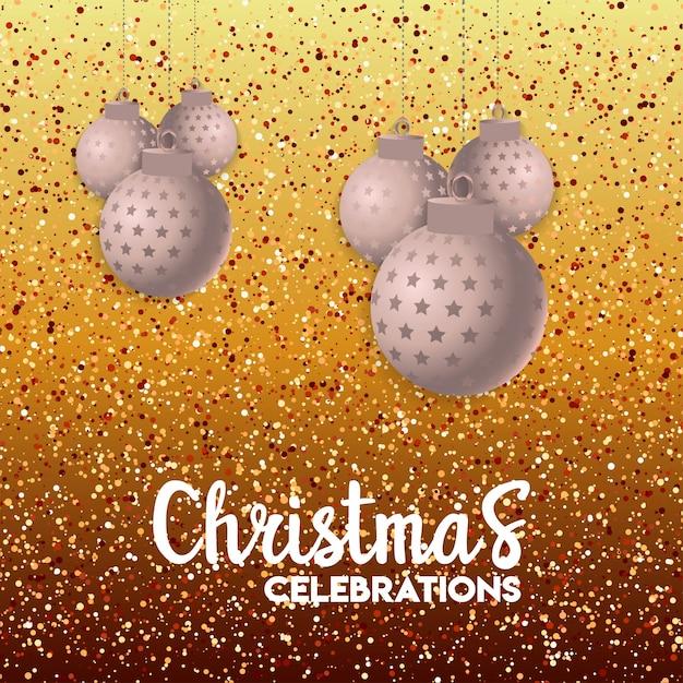 Weihnachtskartendesign mit elegantem design und kreativem hintergrund Kostenlosen Vektoren