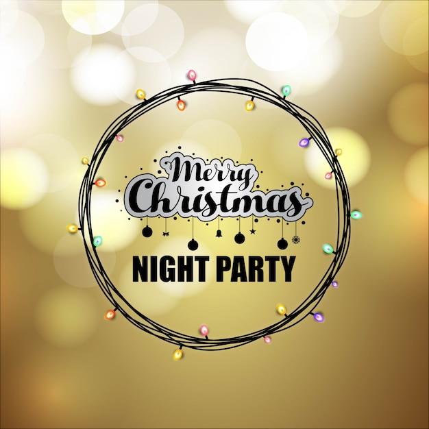 Weihnachtskartendesign mit elegantem design- und lichthintergrundvektor Premium Vektoren