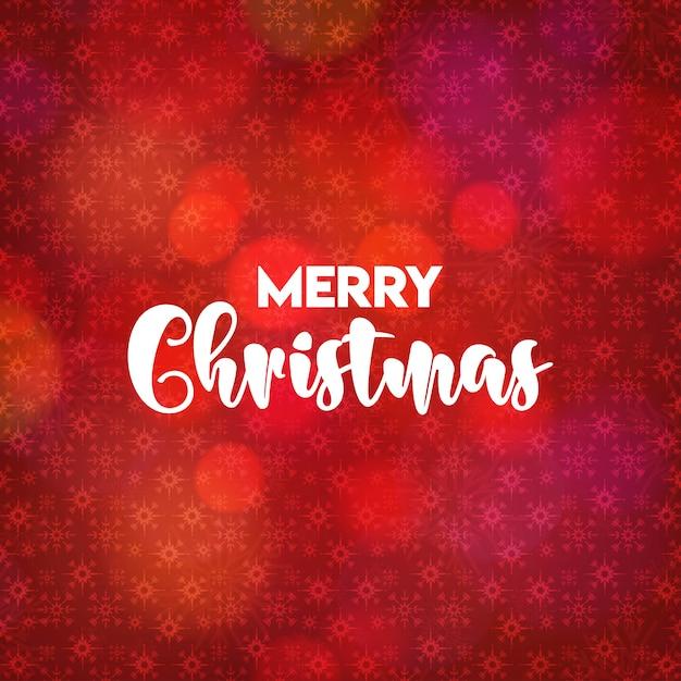 Weihnachtskartendesign mit elegantem design und rotem hintergrundvektor Kostenlosen Vektoren