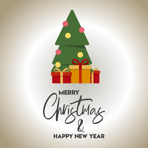 Weihnachtskartendesign mit elegantem designvektor Kostenlosen Vektoren
