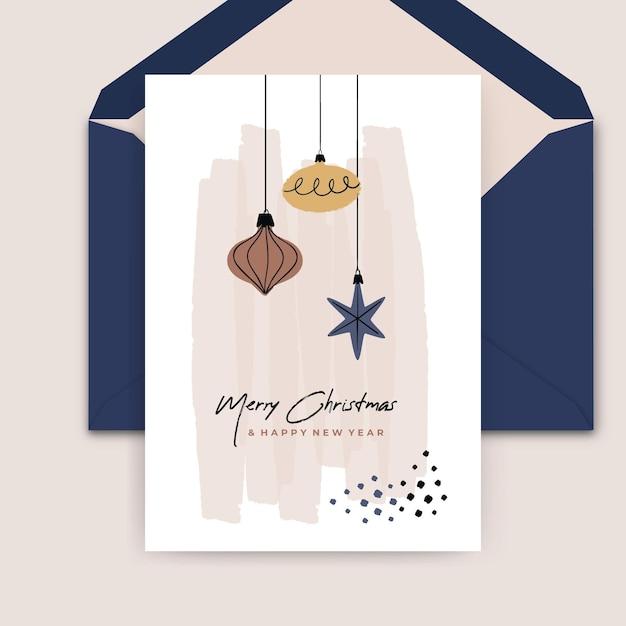 Weihnachtskartenkonzept Kostenlosen Vektoren