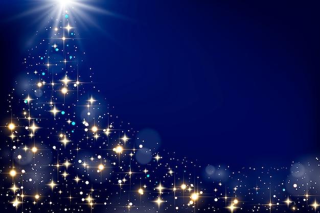 Weihnachtskonzept mit funkelndem hintergrund Kostenlosen Vektoren