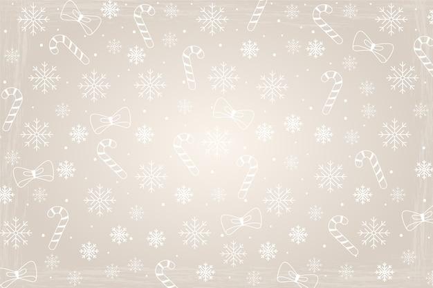Weihnachtskonzept mit weinlesehintergrund Kostenlosen Vektoren