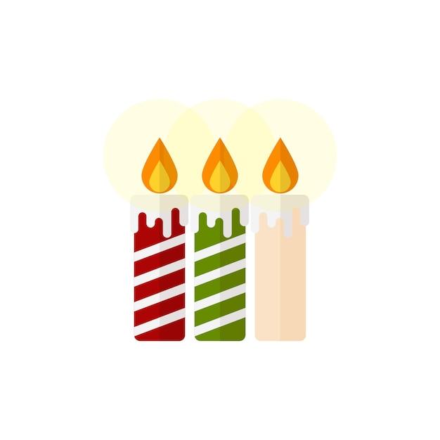 Weihnachtskonzept weihnachtskerzen Premium Vektoren