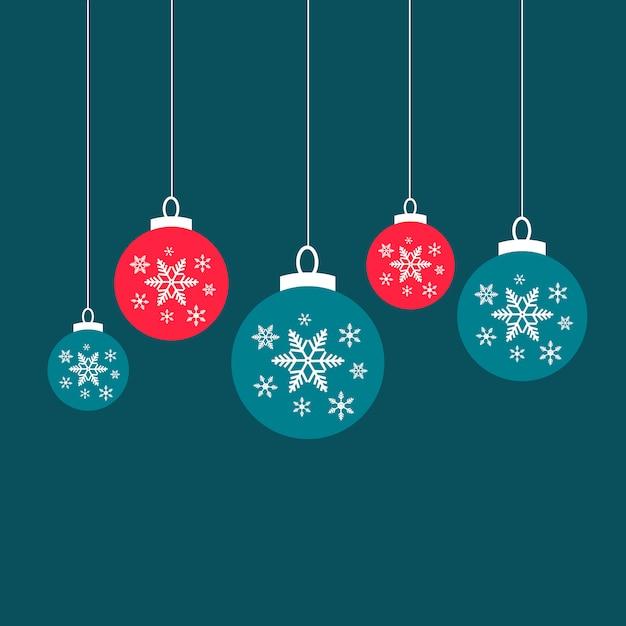 Weihnachtskugel-schneeverzierung Premium Vektoren