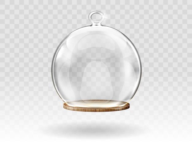 Weihnachtskugeln aus glas, hängende kuppel zur dekoration Kostenlosen Vektoren