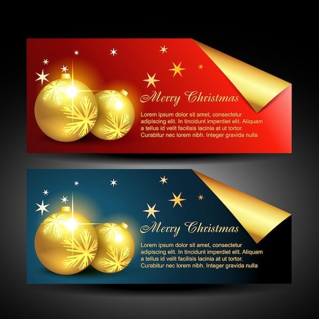 Weihnachtskugeln etiketten Kostenlosen Vektoren