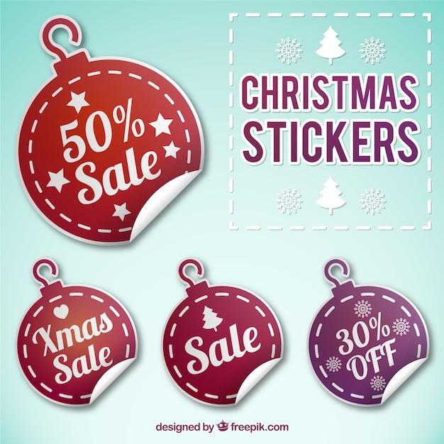 Weihnachtskugeln rabatt stikers Kostenlosen Vektoren