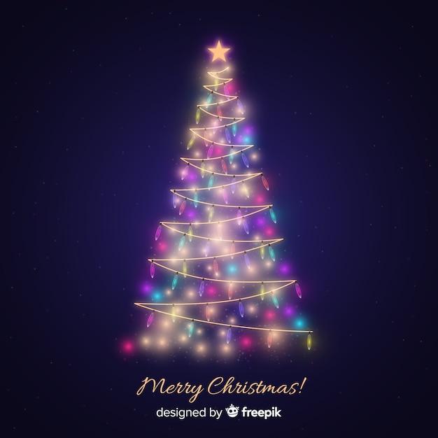 Weihnachtslichtbaum Kostenlosen Vektoren