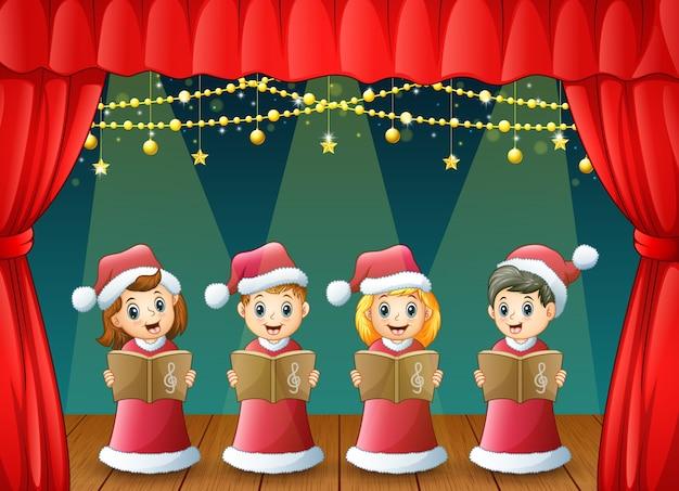 Weihnachtslieder Premium Vektoren