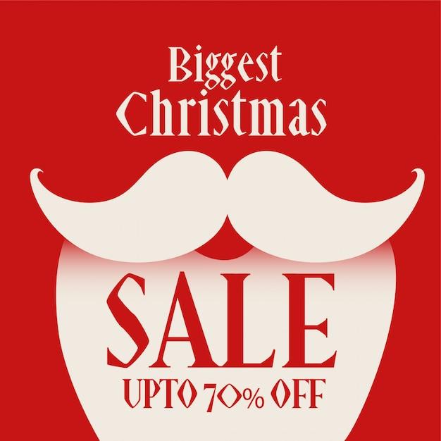 Weihnachtsmann-abbildung für weihnachtsverkaufshintergrund Kostenlosen Vektoren