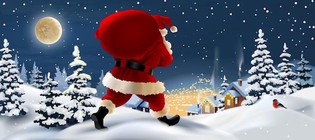 Weihnachtsmann-banner-design Kostenlosen Vektoren