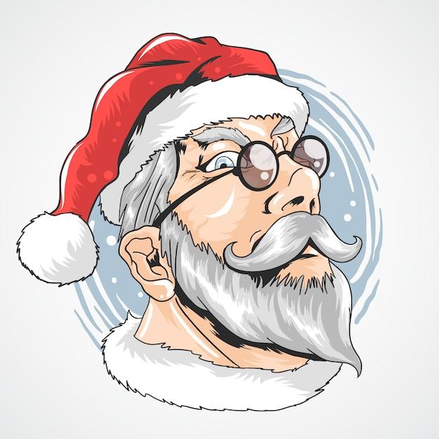 Weihnachtsmann-gläser Premium Vektoren
