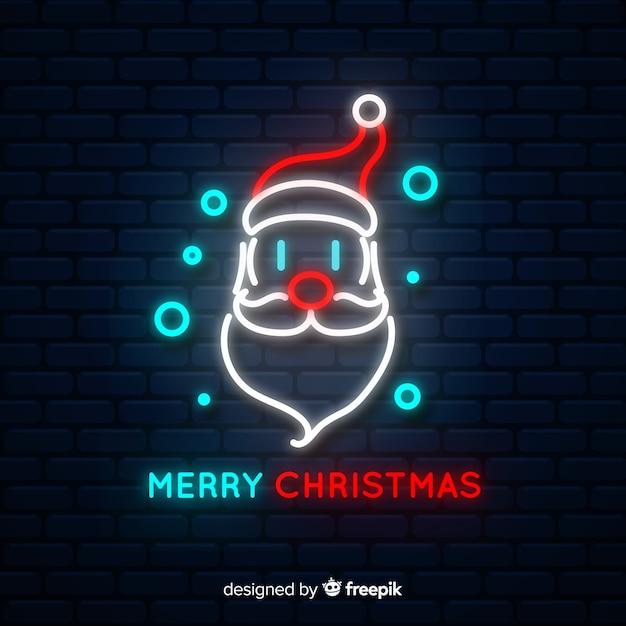 Weihnachtsmann leuchtreklame Kostenlosen Vektoren