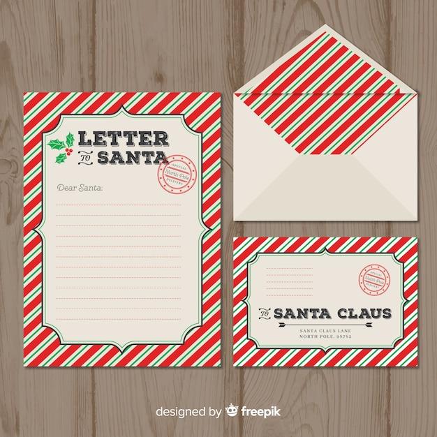 Weihnachtsmann Stempel Briefvorlage Download Der Kostenlosen Vektor