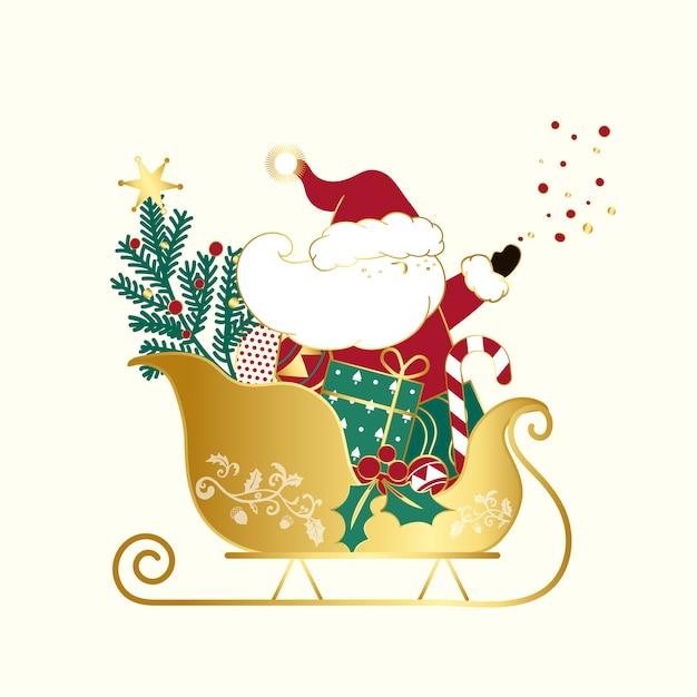 Weihnachtsmann weihnachts-design-vektor Kostenlosen Vektoren