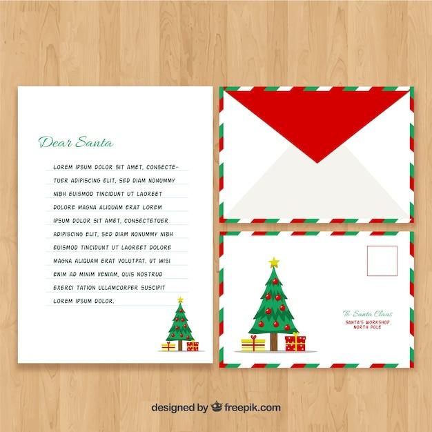 Weihnachtsmann Weihnachtsbaum Brief Vorlage Download Der