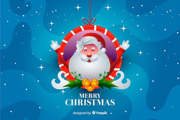 Weihnachtsmann-weihnachtshintergrund Kostenlosen Vektoren