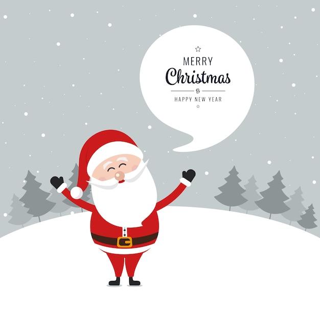 weihnachtsmann welle gru frohe weihnachten sprechblase. Black Bedroom Furniture Sets. Home Design Ideas