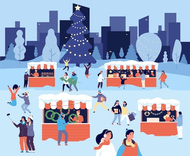 Weihnachtsmarkt Premium Vektoren