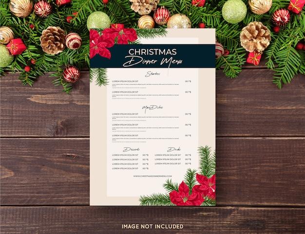 Weihnachtsmenü vorlage Kostenlosen Vektoren