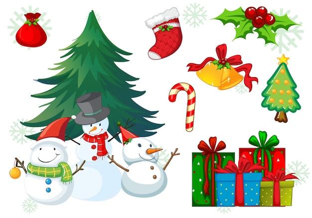 Weihnachtsmotive Zum Kopieren.Weihnachtsmotiv Mit Schneemann Und Geschenken Download Der Premium