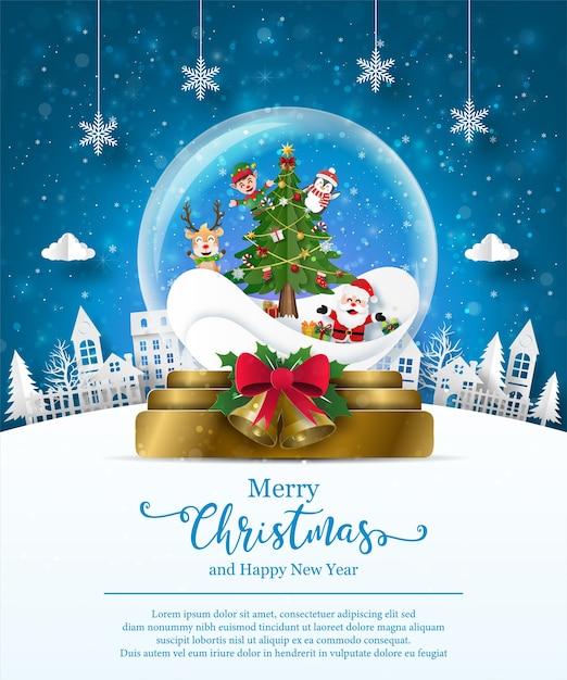 Weihnachtsmotivillustration Premium Vektoren