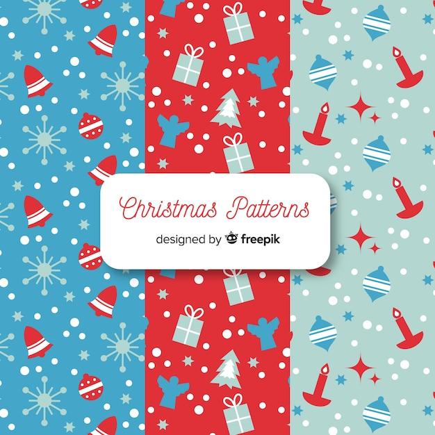Weihnachtsmuster-kollektion Kostenlosen Vektoren
