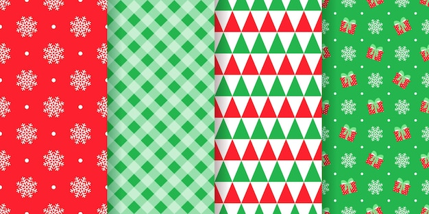 Weihnachtsmuster mit nahtloser illustration Premium Vektoren