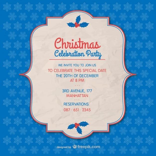 weihnachtsparty einladung vorlage | download der kostenlosen vektor, Einladungen