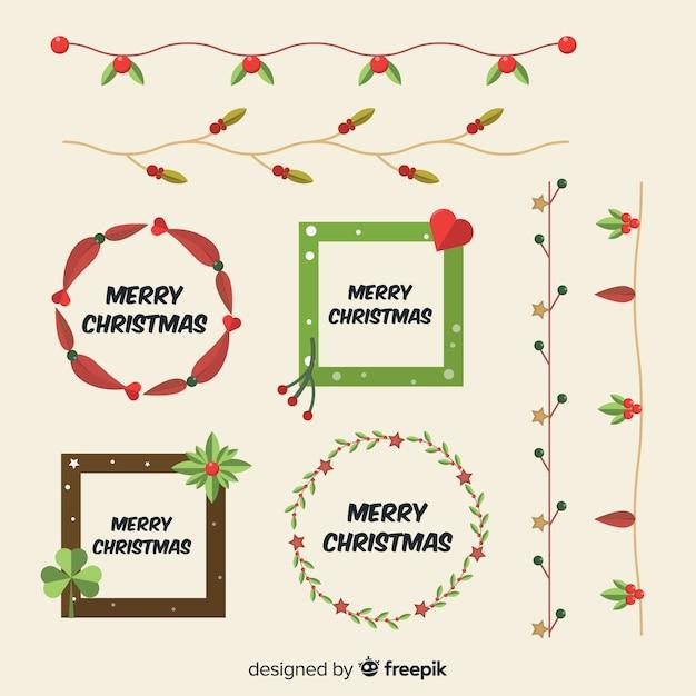 Weihnachtsrahmen & grenzen Kostenlosen Vektoren