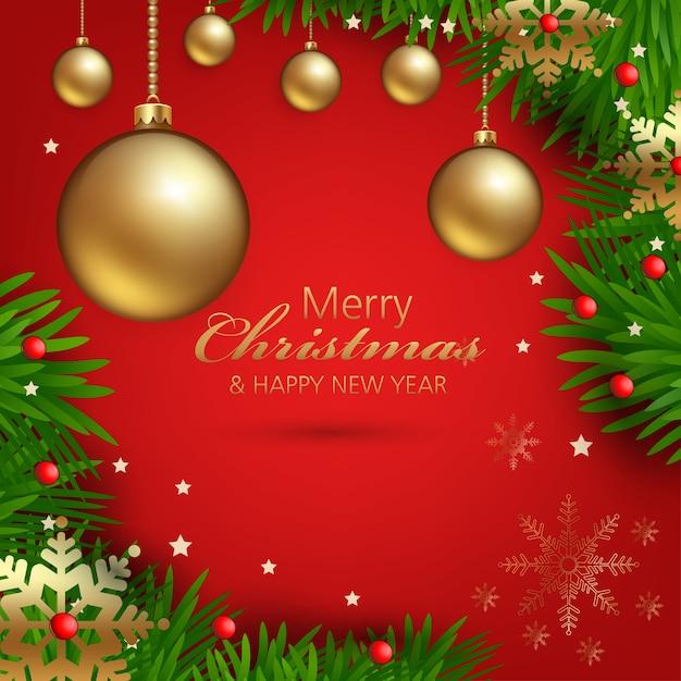 Weihnachtsschmuck mit schönen verzierungen Premium Vektoren