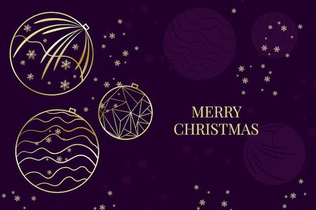 Weihnachtsschneeflocken und ballhintergrund in der entwurfsart Kostenlosen Vektoren