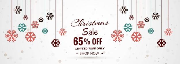 Weihnachtsverkauf banner vorlage Kostenlosen Vektoren