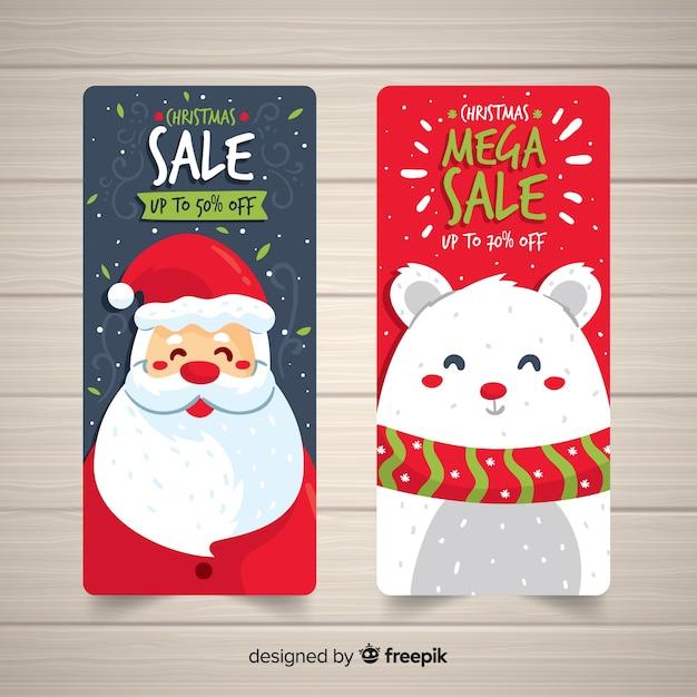 Weihnachtsverkauf banner Kostenlosen Vektoren