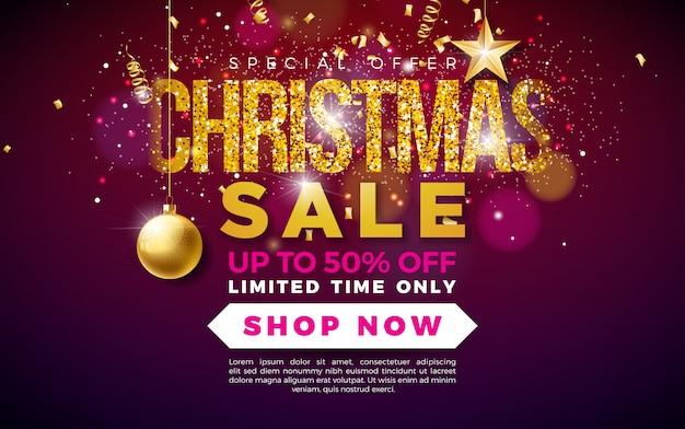 Weihnachtsverkauf design Premium Vektoren