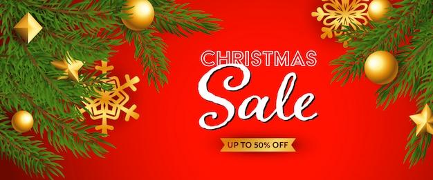 Weihnachtsverkauf festliche banner Kostenlosen Vektoren