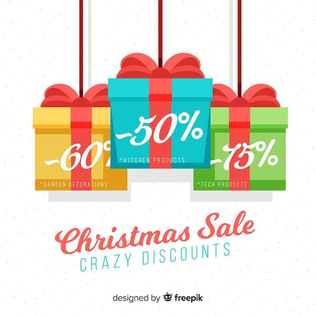 Weihnachtsverkauf hintergrund Kostenlosen Vektoren