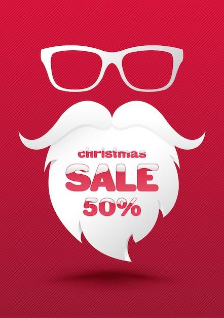 Weihnachtsverkauf-Plakat-Schablone.   Download der Premium Vektor