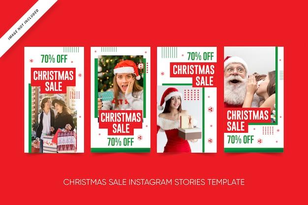 Weihnachtsverkauf social media pack Premium Vektoren