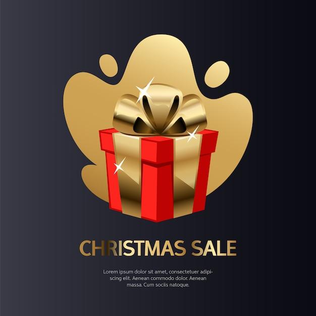 Weihnachtsverkaufs-karten-gold Premium Vektoren
