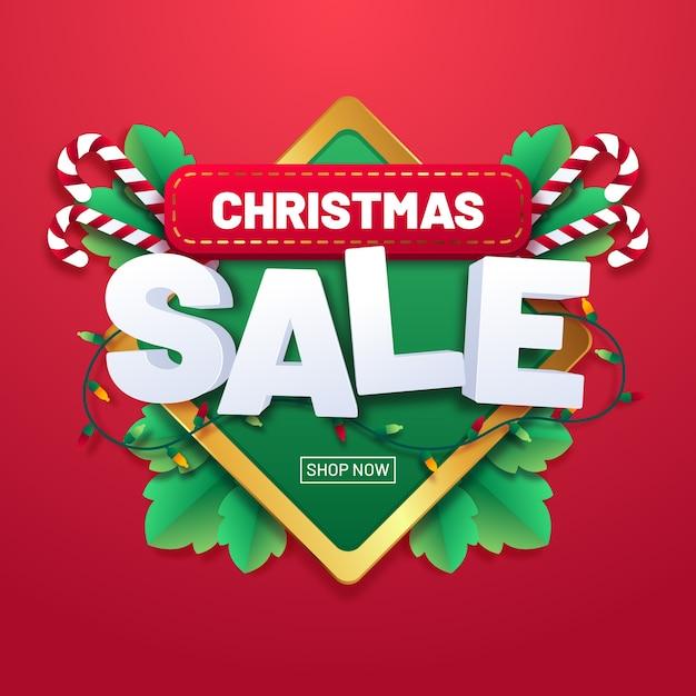 Weihnachtsverkaufskonzept im flachen design Kostenlosen Vektoren