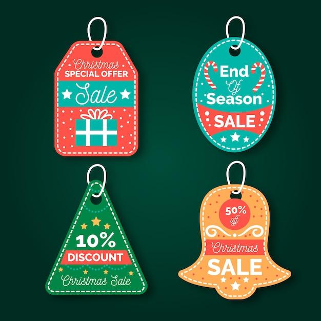 Weihnachtsverkaufstag-sammlungshand gezeichnet Kostenlosen Vektoren