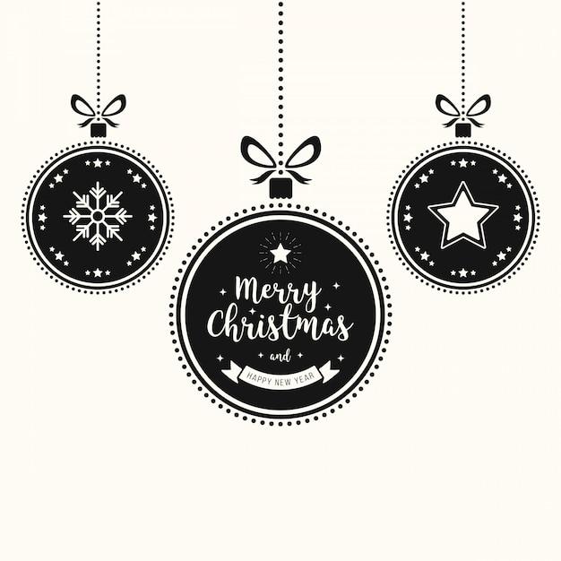 Weihnachtswunschschmuckflitter hängen Premium Vektoren