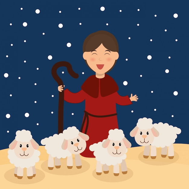 Weihnachtszeit-karikatur-grafikdesign Premium Vektoren