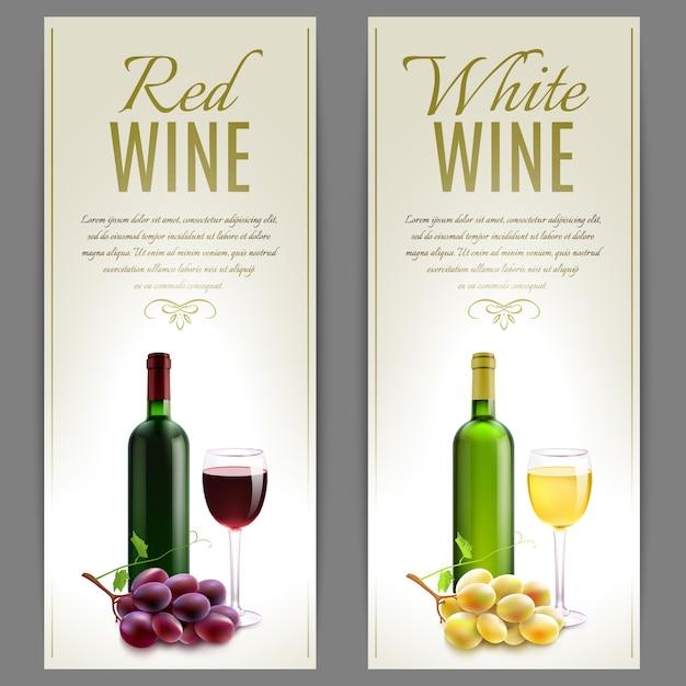 Wein-banner-set Kostenlosen Vektoren