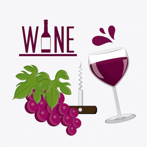 Wein design Premium Vektoren
