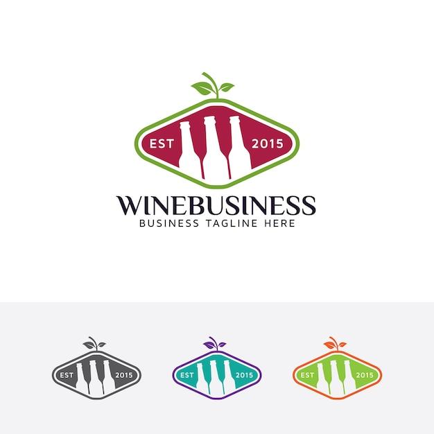 Wein und Getränke Logo | Download der Premium Vektor