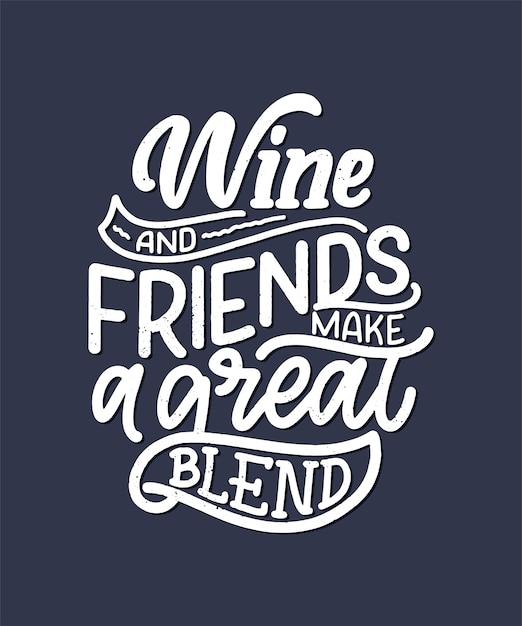 Weinbeschriftungszusammensetzung im modernen stil. Premium Vektoren